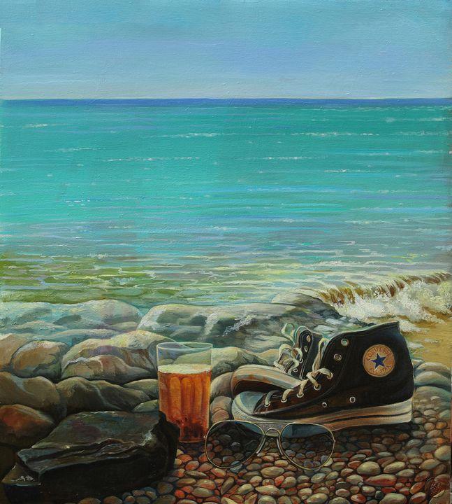 Perfect beach - Sergey Lesnikov art