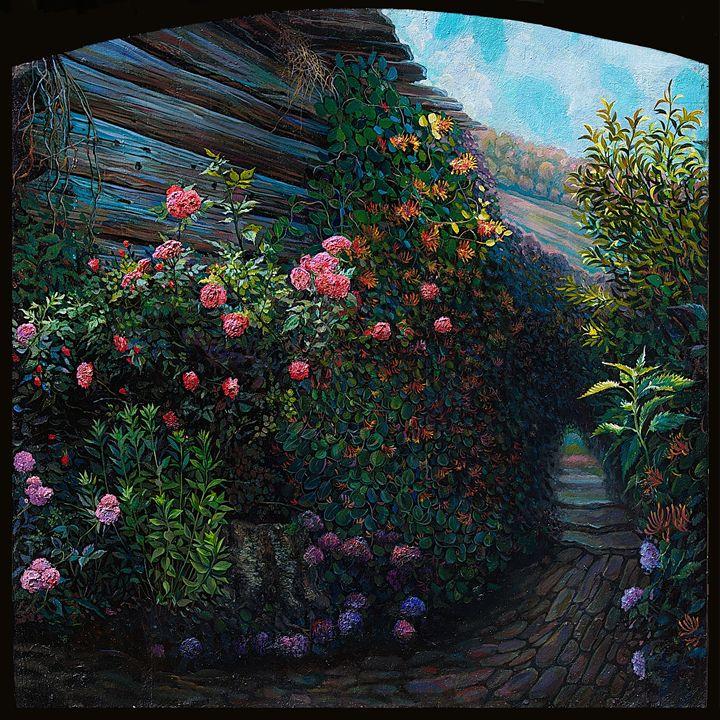 In my garden - Sergey Lesnikov art
