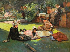 James Tissot. In the Sunshine. - Sergey Lesnikov art