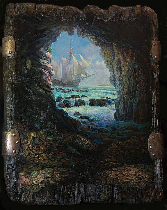 """""""Hispaniola"""" - Sergey Lesnikov art"""