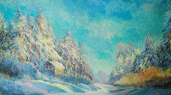 My winter. - Sergey Lesnikov art