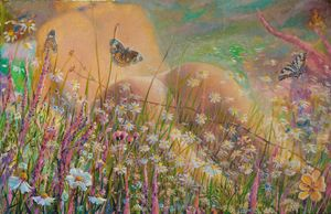 July butterflies - Sergey Lesnikov art