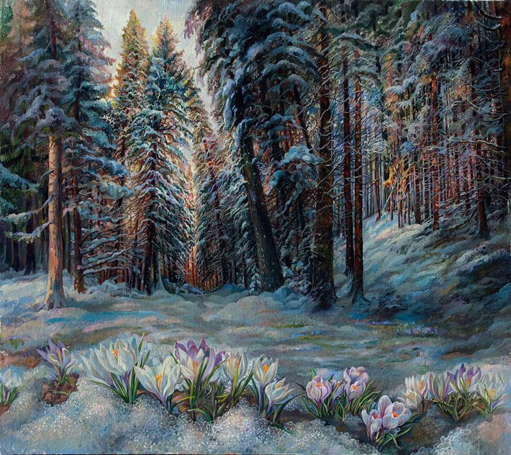 Snowdrops - Sergey Lesnikov art