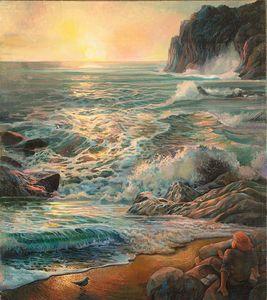 Watching the ocean - Sergey Lesnikov art