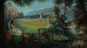 Summer tennis - Sergey Lesnikov art