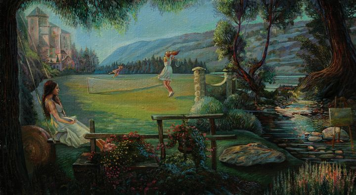 Summer tennis - Sergey Lesnikov art