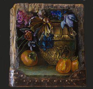 Golden vase - Sergey Lesnikov art