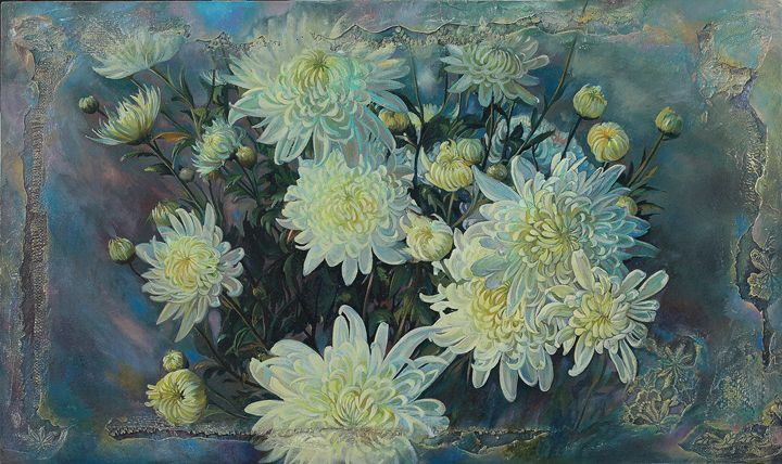 Chrysanthemums - Sergey Lesnikov art