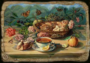 Summer breakfast - Sergey Lesnikov art