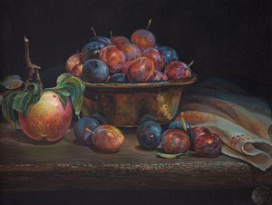 Plums - Sergey Lesnikov art
