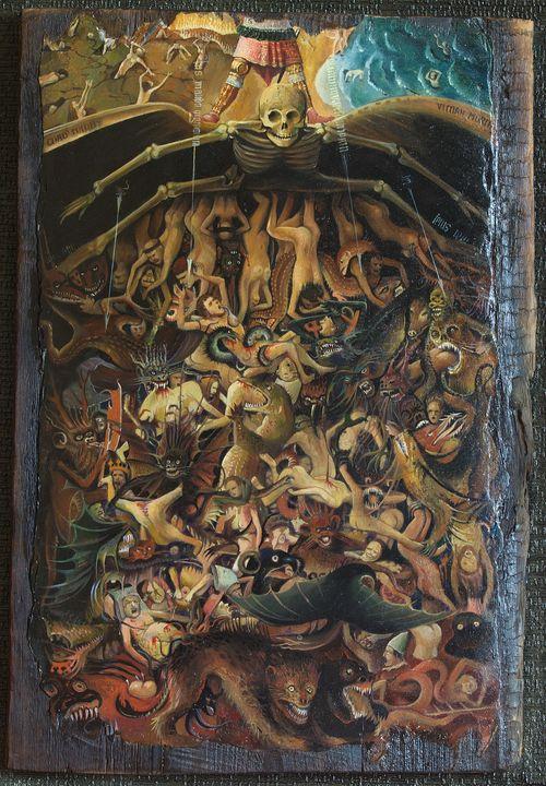 Last Jadgement, Jan van Eyck - Sergey Lesnikov art