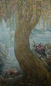 Golden willow - Sergey Lesnikov art