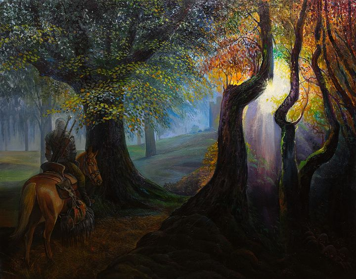 Geralt of Rivia, the Witcher - Sergey Lesnikov art
