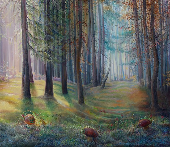 September forest - Sergey Lesnikov art