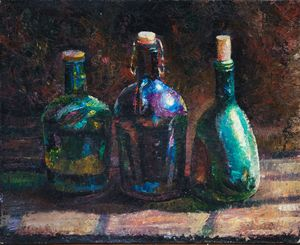 Three Bottles - Sergey Lesnikov art
