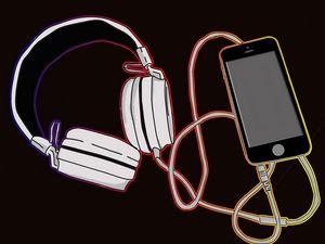 phone and headphone