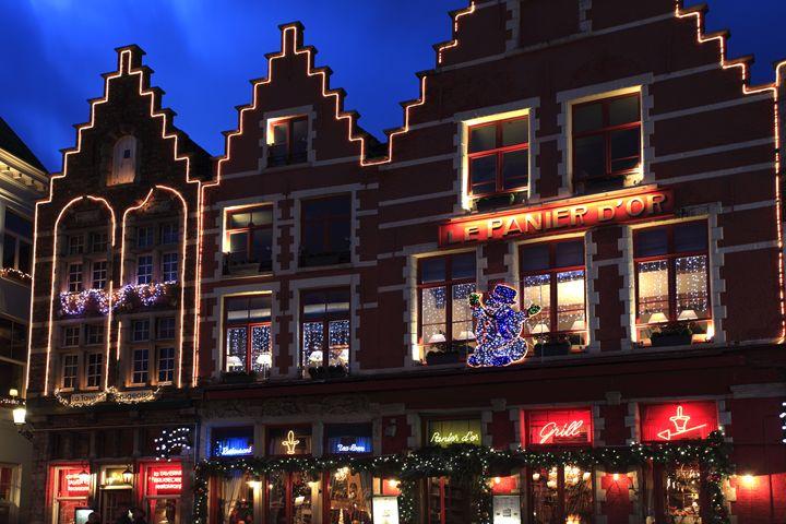 Christmas decorations Bruges City - Dave Porter Landscape Photography