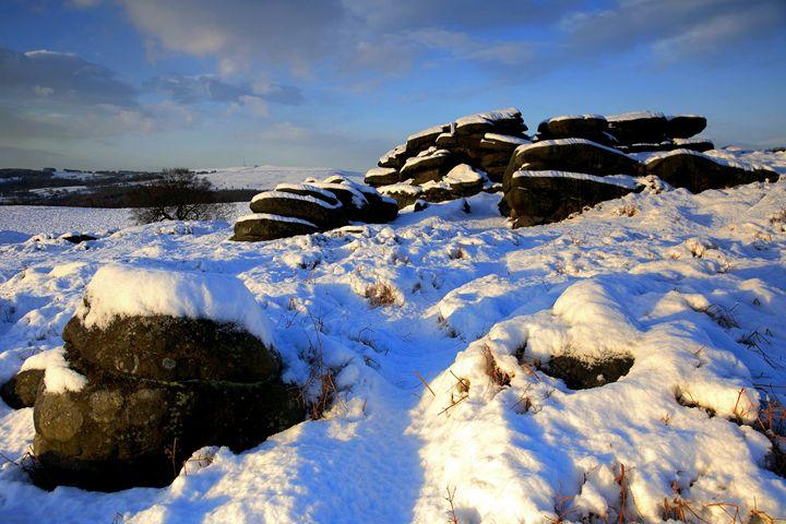 Winter Snow Gritstones Derbyshire - Dave Porter Landscape Photography