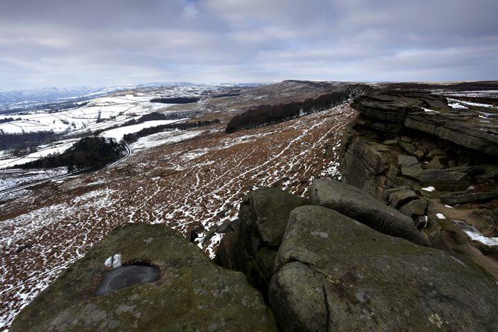 Wintertime Stanage Edge Derbyshire - Dave Porter Landscape Photography