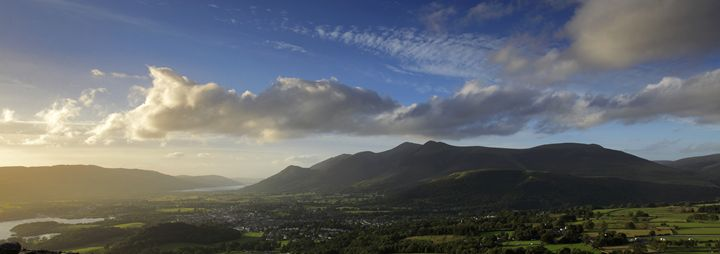 Sunset over Keswick town - Dave Porter Landscape Photography