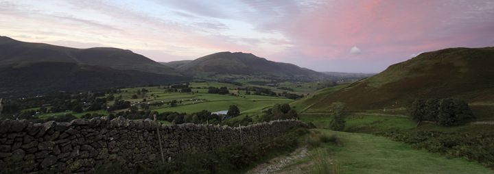 Sunset over the Threlkeld valley - Dave Porter Landscape Photography