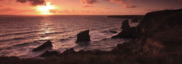 Summer Sunset, Bedruthan Steps - Dave Porter Landscape Photography