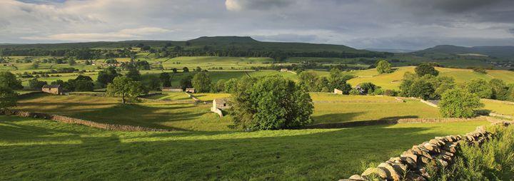 Dawn breaking over Askrigg pastures - Dave Porter Landscape Photography
