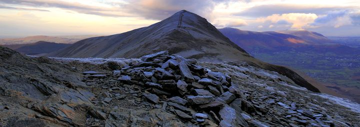 Winter dusk over Grisedale Pike - Dave Porter Landscape Photography