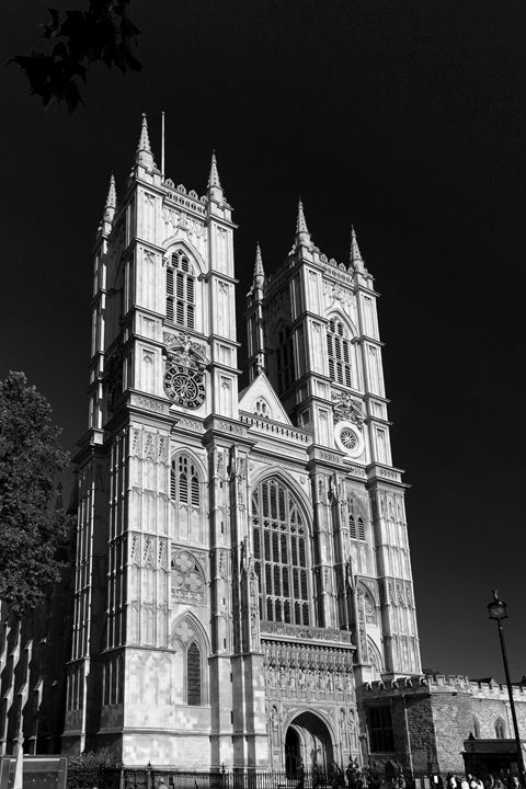 Exterior of Westminster Abbey London - Dave Porter Landscape Photography