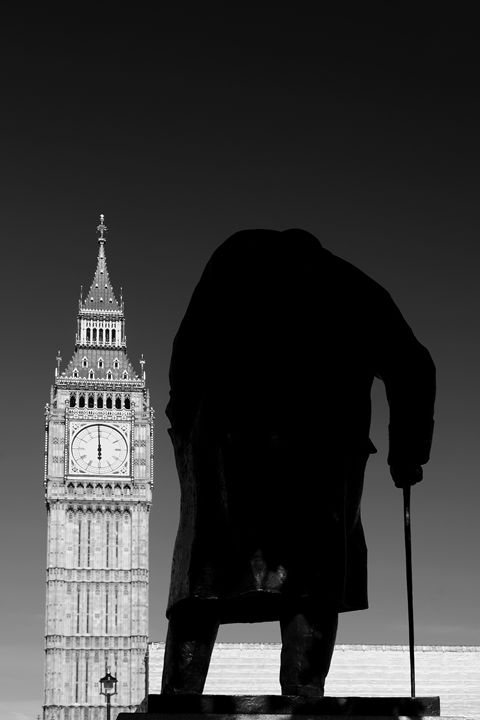 Winston Churchill statue Big Ben - Dave Porter Landscape Photography