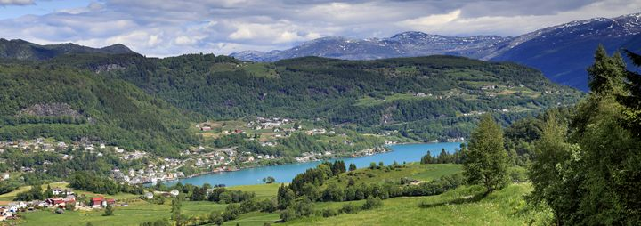 Oystese located on Hardangerfjord - Dave Porter Landscape Photography