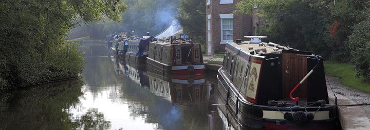 Narrowboats Grand Union Canal - Dave Porter Landscape Photography