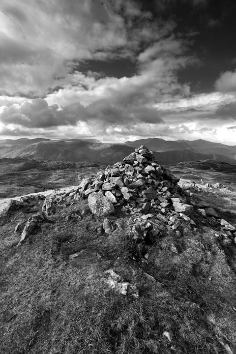 Summit cairn, High Seat Fell - Dave Porter Landscape Photography