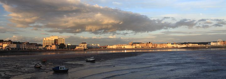 Sunset, Weston Super Mare Promenade - Dave Porter Landscape Photography