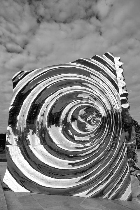 Cube Sculpture, Bergen City - Dave Porter Landscape Photography