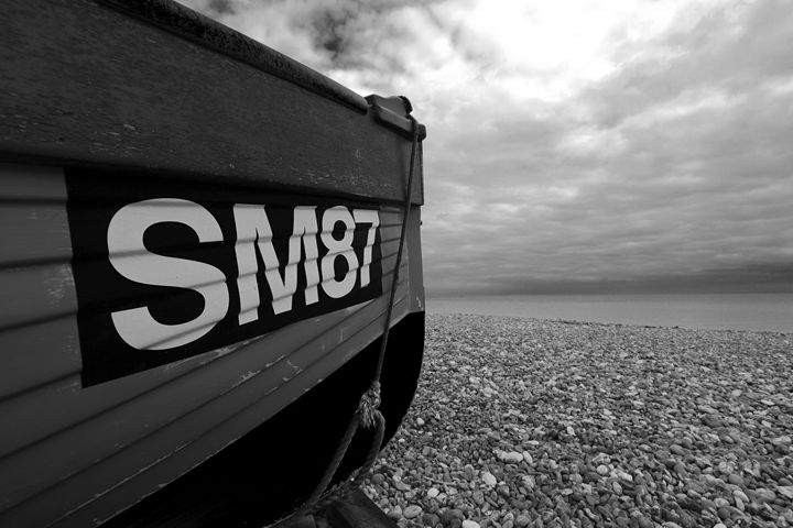 fishing boat on beach, Worthing - Dave Porter Landscape Photography