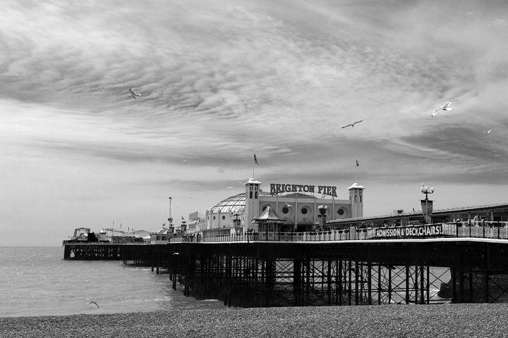 Dusk colours, Brighton Palace Pier - Dave Porter Landscape Photography
