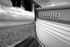 fishing boat on beach, Worthing