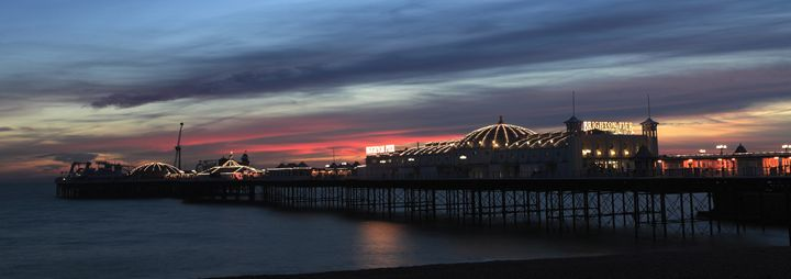 Dusk colours, Brighton Palace Pier - Dave Porter Landscape Photography