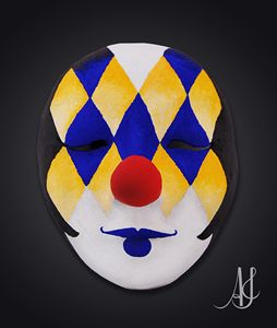 Motley Clown Mask