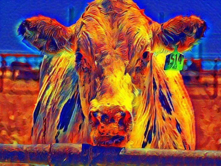Sprinkles the Moo - Diana Penn Artography