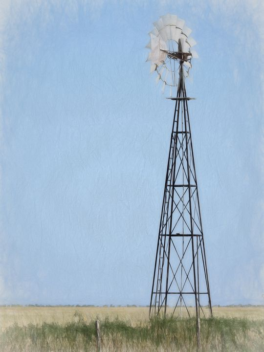 Windmill in Colored Pencil - Diana Penn Artography