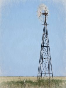 Windmill in Colored Pencil