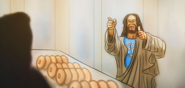 Jesus at the Donut Shop - Artworks by Matthias Zegveld