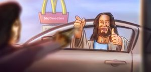 Art — Jesus at the McDrive