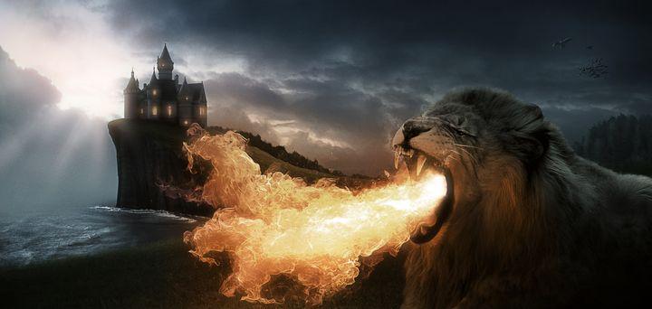 Art - Lion of Fire - Artworks by Matthias Zegveld