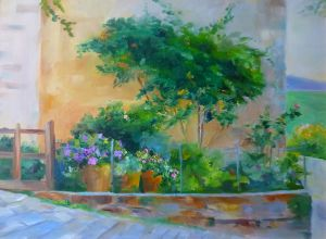 A garden in Tuscany - Donna Robertson