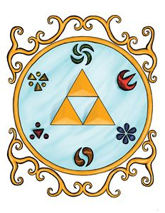 Legend of Zelda Triforce and Emblems