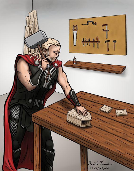 Thor Building a Birdhouse - Daniel French