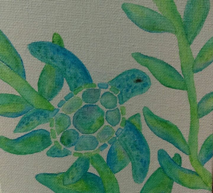 Baby Turtle Swimming - Rhonda Hanson